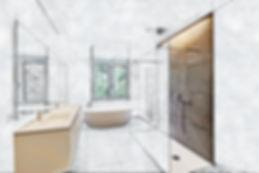 Partial sketch of a Tiled bathroom with windows towards garden.jpg