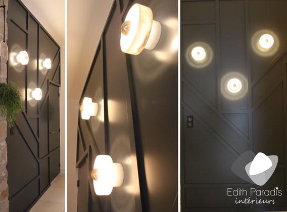 Création mur de lumière