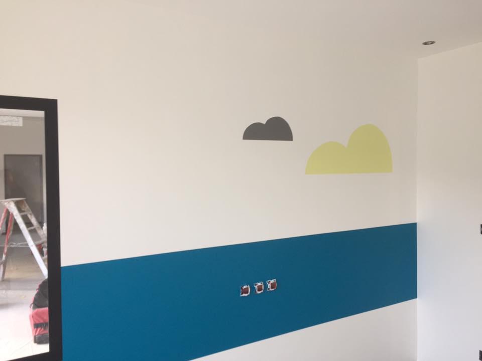 mural salle de jeux