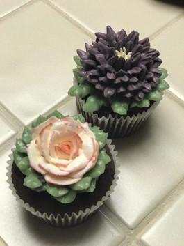 Floral Buttercream Cupcakes