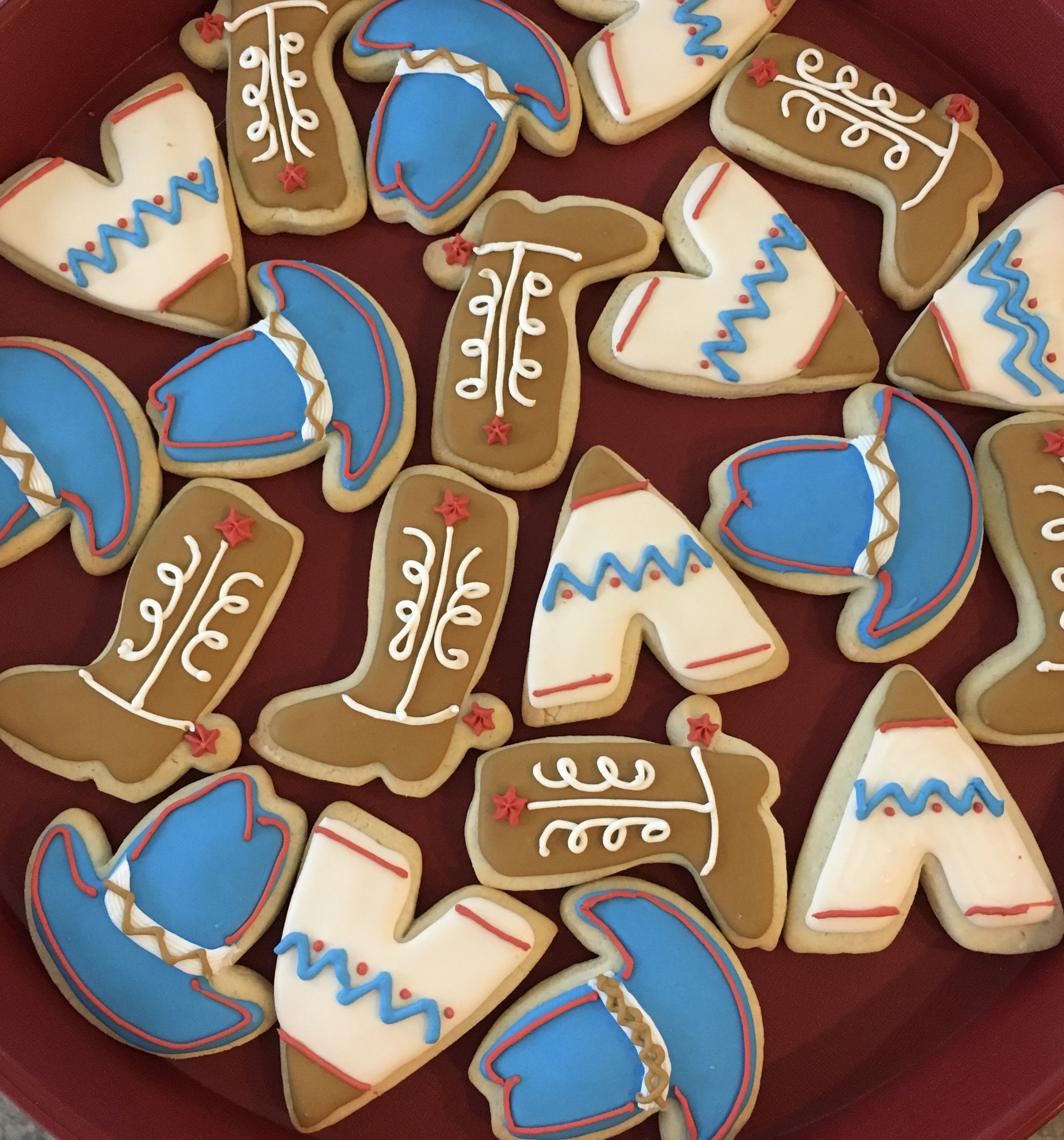 Cowboys & Indians Party Cookies