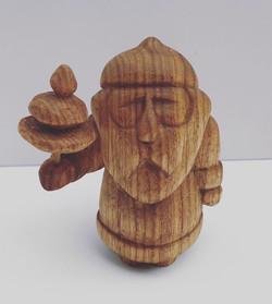 Tree Santa Carving