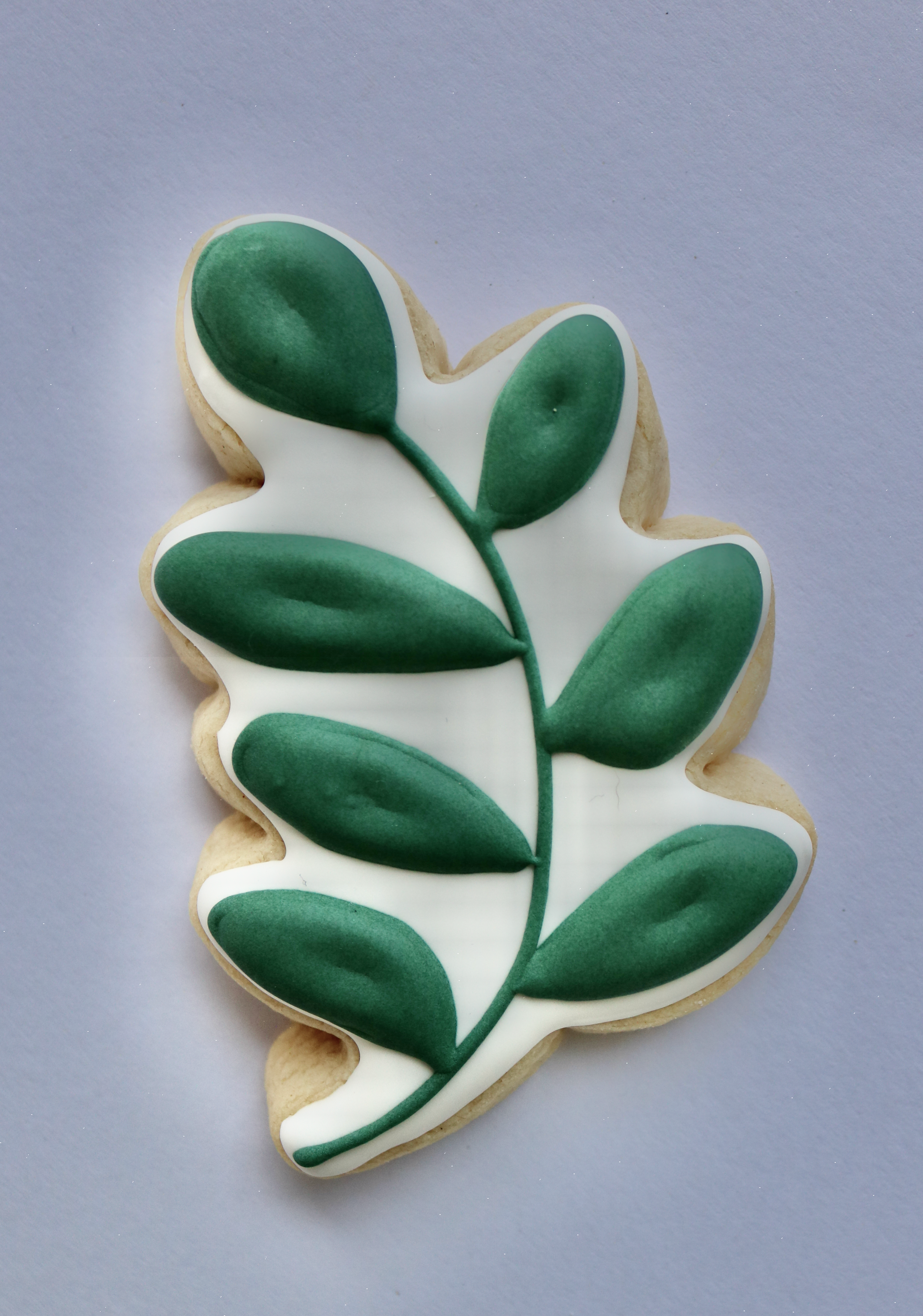 Small Green Leaf Plaque
