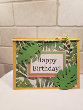 Tropical Birthday Card