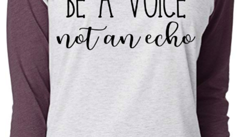 Be a Voice Not an Echo Raglan Tee