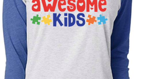 I Teach Awesome Kids Raglan Tee