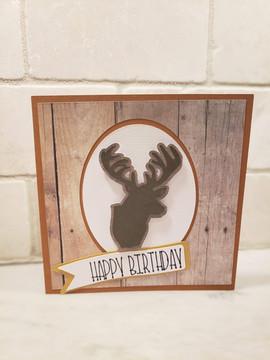 Happy Birthday Buck Card