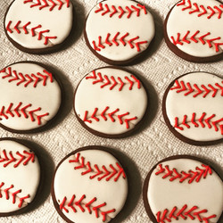 Baseball Sugar Cookie