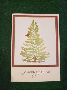 Watercolored Christmas Tree
