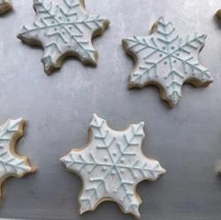 Blue & Silver Snowflake Cookies