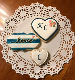 Navy & Gold Bridal Shower Cookies