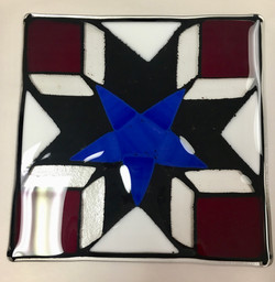 4th of July Inspired Glass Plate