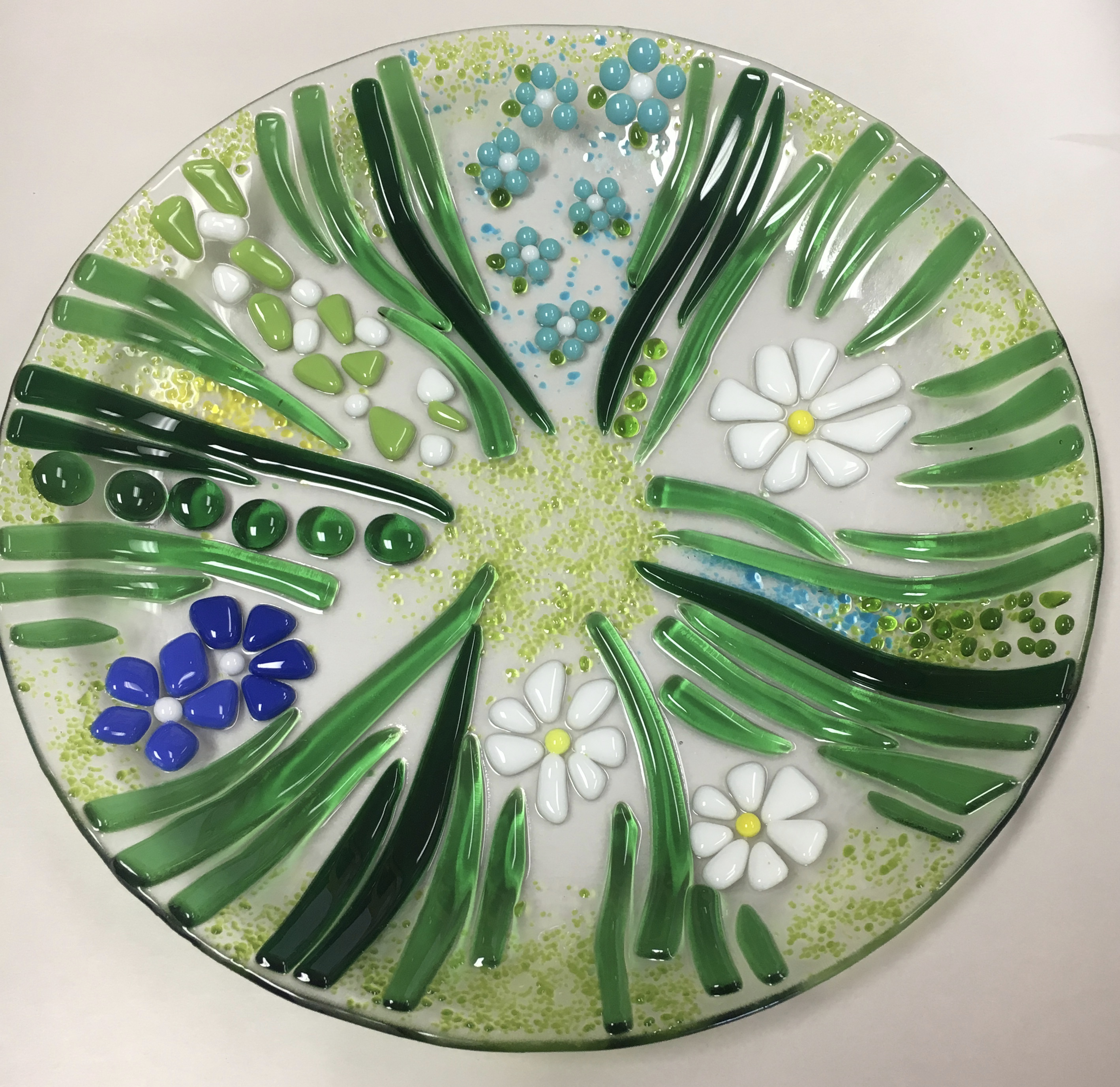 Spring Time Glass Fused Plate