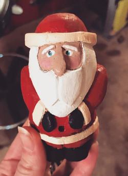 Bearded Whittled Santa