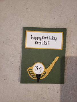 Personalized Golf Card