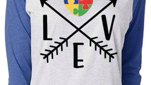 Love Arrow Raglan Tee