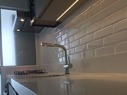 Cozinha clean em MDF Chamois, Aéreo com