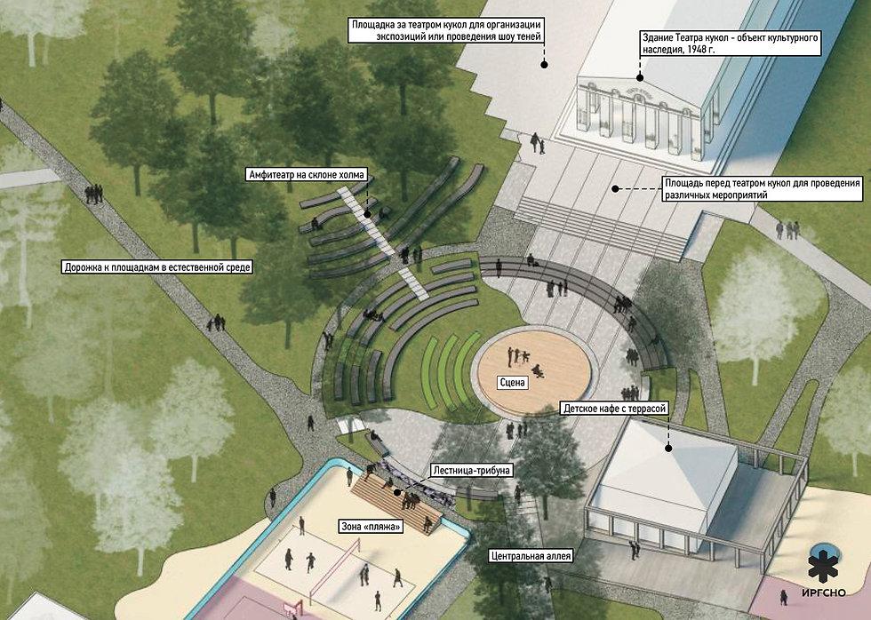Театральная-зона в дзержинсом парке культуры и отдыха