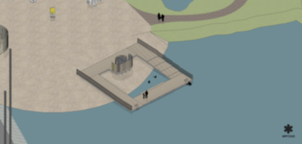 Спуск к воде в мелководной зоне