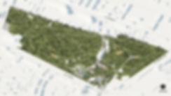 Аксонометрия парка в Дзержинске