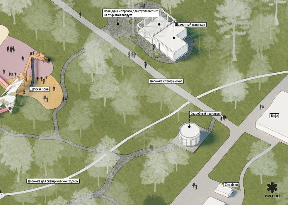 Зона городского сада в дзержинском парке