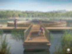 Круг на воде на второго озере Щелоковский хутор