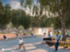 парк Пушкина общественная зона