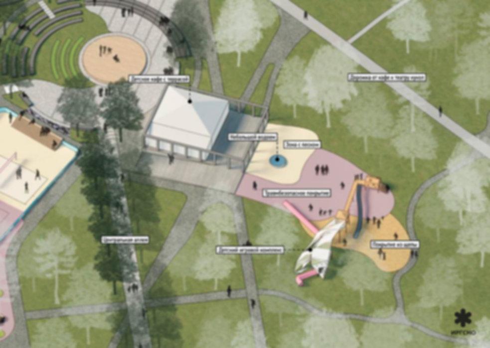 Детская зона в дзержинском парке культур