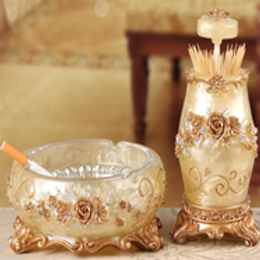 Ashtray and Toothpick container set