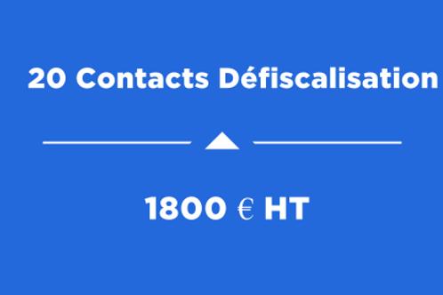 20 Contacts Défiscalisation