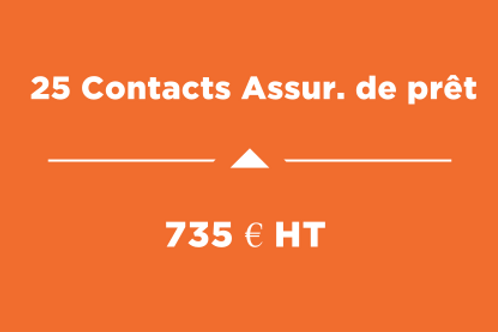 25 Contacts Ass.de prêt