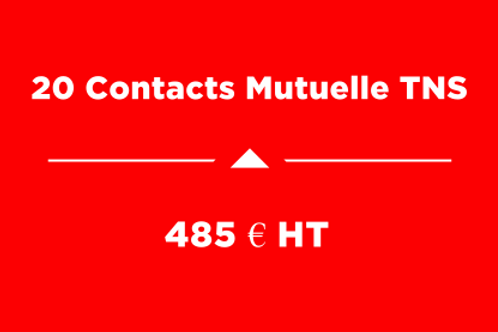 Forfait 20 Contacts Mutuelle TNS