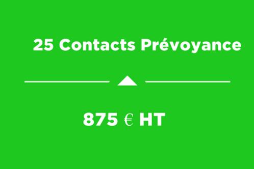 25 Contacts Prévoyance