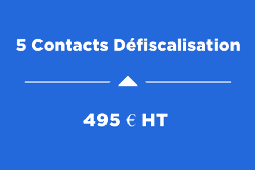 5 Contacts Défiscalisation