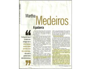 """Revista O GLOBO – """"A PALAVRA"""" (Medeiros, M.) – Set. 2011"""