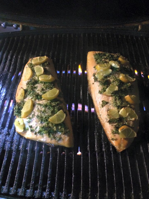Grilled Char with Meyer Lemons