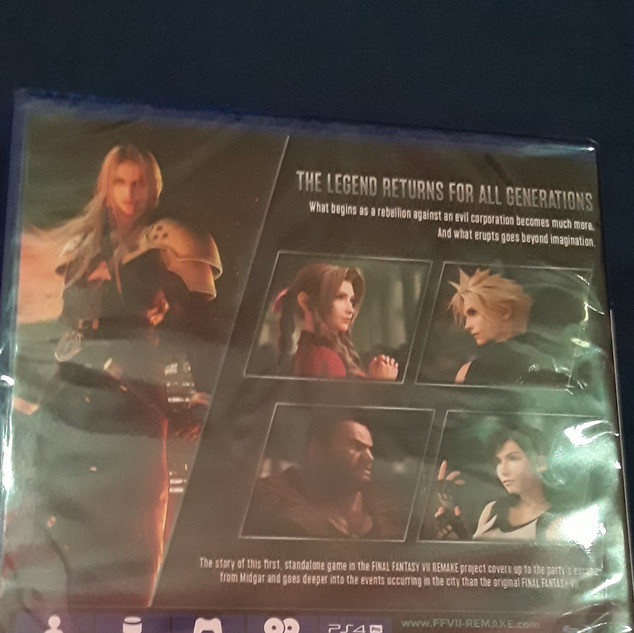 FF7 Remake Back Cover