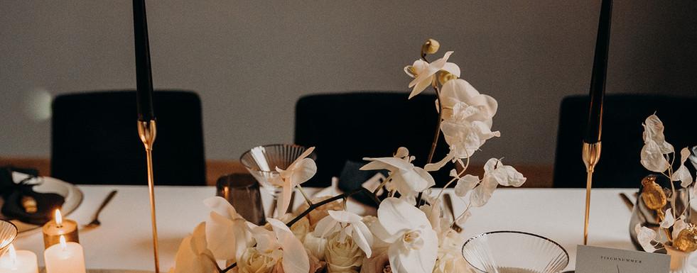 Tischgesteck Hochzeit Modern Glam