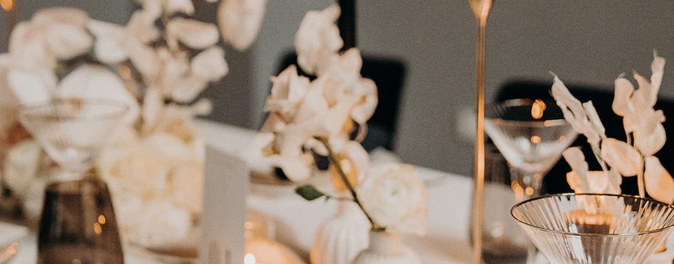 Kerzenschein Hochzeitstafel