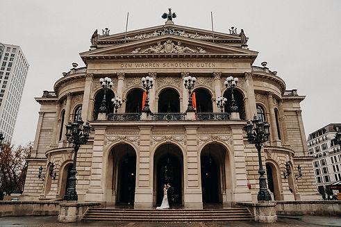 Brautpaar Rhein-Main-Gebiet Alte Oper Frankfurt Hochzeit