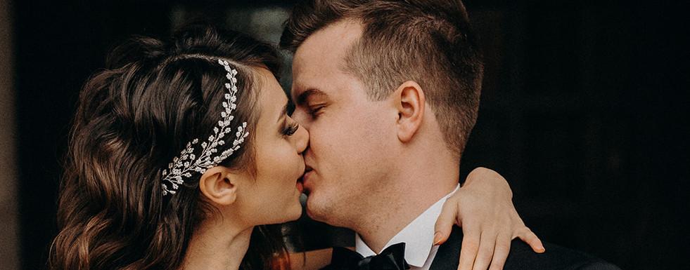 Erster Kuss Brautpaar, Hochzeit Frankfurt