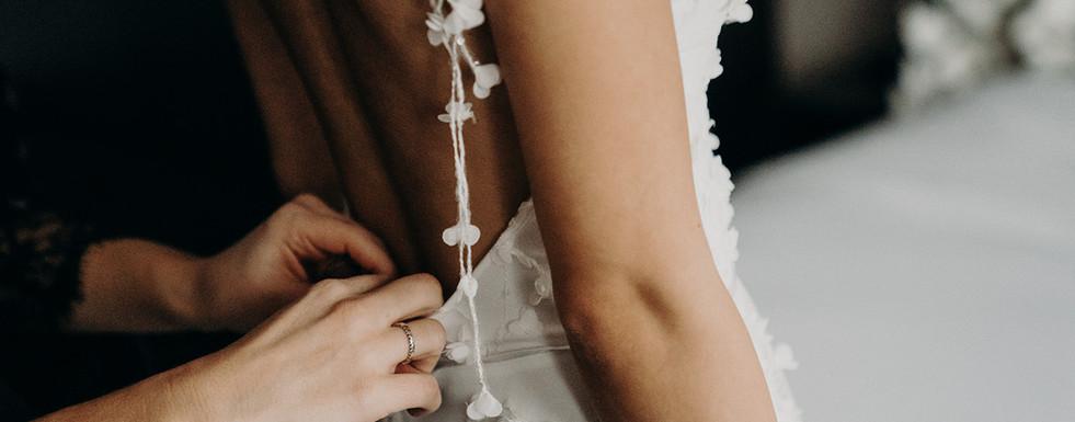 Brautkleid Detailaufnahme