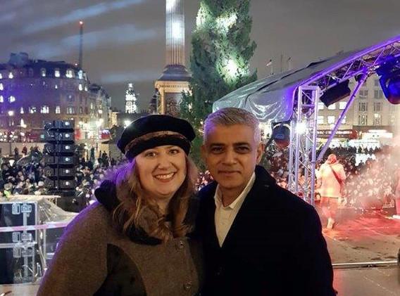Rachel Creeger with Mayor of London Sadiq Khan