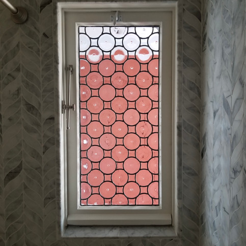 Bottle Glass in the Master Bath