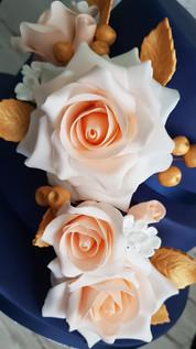 Handmade Peach Sugar Flower