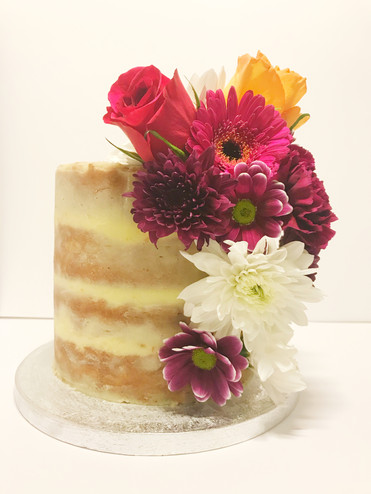 Semi-Naked Cake With Fresh Flowers