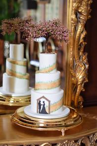 Hand Painted Pathway Wedding Cake