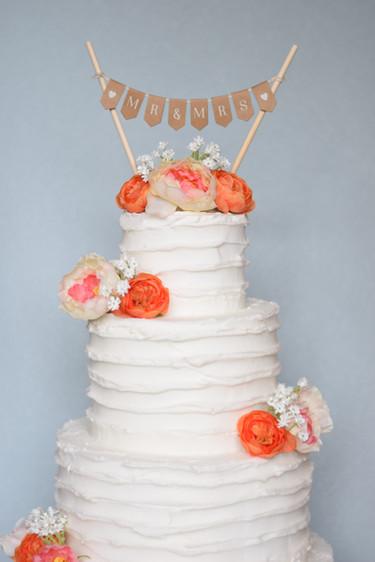 Buttercream and Flowers Wedding Cake