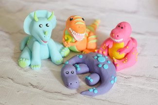 Bright Dinosaur Cake Toppers