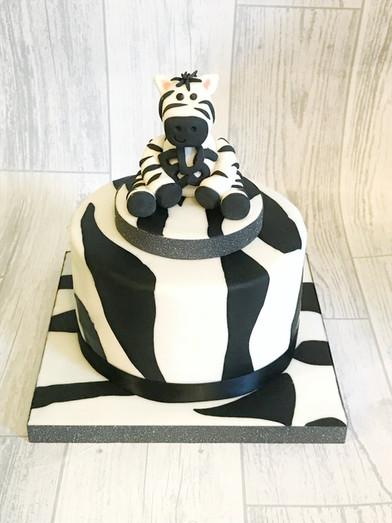 Zebra Stripe Birthday Cake